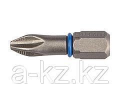 Биты для шуруповерта ЗУБР 26011-2-25-2, торсионная  кованая, обточенная, хромомолибденовая сталь, тип хвостовика C 1/4, PH2, 25 мм, 2 шт.