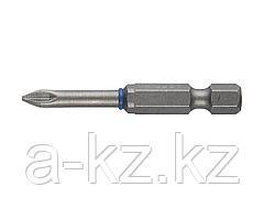 Биты для шуруповерта ЗУБР 26013-1-50-2, торсионная кованая, обточенная, хромомолибденовая сталь, тип хвостовика E 1/4, PZ1, 50 мм, 2 шт.