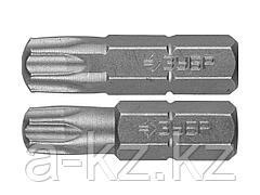 Биты для шуруповерта ЗУБР 26005-30/40-25-2, кованая, хромомолибденовая сталь, тип хвостовика C 1/4, T30 - 1 шт., Т40 - 1 шт., 25 мм, 2 шт.