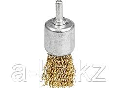Щетка крацовка кистевая для дрели STAYER 35113-24, витая стальная проволока 0,3 мм, 24 мм