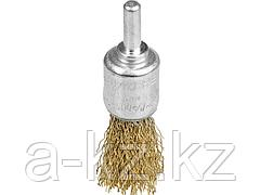Щетка крацовка кистевая для дрели STAYER 35113-17, витая стальная проволока 0,3 мм, 17 мм