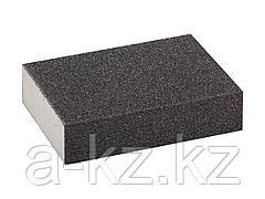 Губка абразивная шлифовальная ЗУБР 35612-080, ЭКСПЕРТ, четырехсторонняя, SiC, средняя жесткость, Р80, 100 х 68 х 26 мм