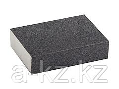 Губка абразивная шлифовальная ЗУБР 35612-120, ЭКСПЕРТ, четырехсторонняя, SiC, средняя жесткость, Р120, 100 х 68 х 26 мм