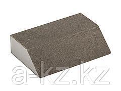 Губка абразивная шлифовальная ЗУБР 35613-120, МАСТЕР, четырехсторонняя угловая, средняя жесткость, Р120, 100 х 68 х 42 х 26 мм