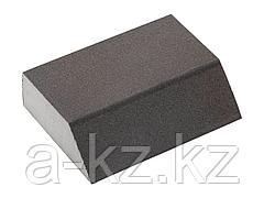 Губка абразивная шлифовальная ЗУБР 35613-320, МАСТЕР, четырехсторонняя угловая, средняя жесткость, Р320, 100 х 68 х 42 х 26 мм
