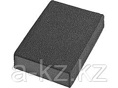 Губка абразивная шлифовальная DEXX 35637-080, четырехсторонняя, AL2O3, средняя жесткость, Р80, 100 х 68 х 26 мм
