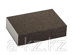 Губка абразивная шлифовальная ЗУБР 35611-080, МАСТЕР, четырехсторонняя, средняя жесткость, Р80, 100 х 68 х 26 мм