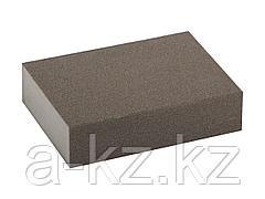 Губка абразивная шлифовальная ЗУБР 35611-180, МАСТЕР, четырехсторонняя, средняя жесткость, Р180, 100 х 68 х 26 мм