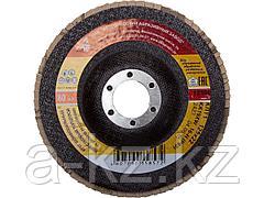 Круг шлифовальный лепестковый Луга 3656-125-25, абразивный, 125 х 22,23мм, зерно P60