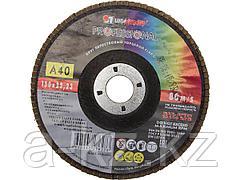 Круг шлифовальный лепестковый Луга 3656-150-40, абразивный, 150 х 22,23мм, зерно P40