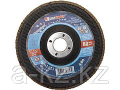 Круг шлифовальный лепестковый Луга 3656-150-25, абразивный, 150 х 22,23мм, зерно P60