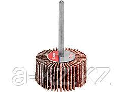 Круг шлифовальный лепестковый ЗУБР 36600-060, МАСТЕР, веерный, на шпильке, тип КЛО, зерно-электрокорунд нормальный, P60, 15 х 30 мм