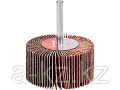 Круг шлифовальный лепестковый ЗУБР 36602-060, МАСТЕР, веерный, на шпильке, тип КЛО, зерно-электрокорунд нормальный, P60, 30 х 60 мм