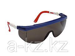 Очки защитные STAYER 2-110483, с регулируемыми по длине и углу наклона дужками, поликарбонатные затемненные линзы
