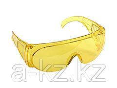 Очки защитные STAYER 11042, STANDARD, поликарбонатная монолинза с боковой вентиляцией, желтые