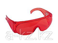 Очки защитные STAYER 11045, STANDARD, поликарбонатная монолинза с боковой вентиляцией, красные