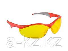 Очки защитные ЗУБР 110321, МАСТЕР,  желтые, поликарбонатная монолинза с мягкими двухкомпонентными дужками