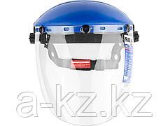 Щиток защитный лицевой СИБИН 11089, с экраном из поликарбоната, 11089