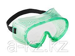 Очки защитные ЗУБР 11027, МАСТЕР, закрытого типа, с прямой вентиляцией, линза поликарбонатная