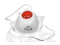 Респиратор фильтрующий DEXX 11104, противоаэрозольный, многослойный, конический с клапаном FFP1