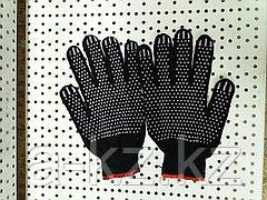 Перчатка трикотажная х/б черная с ПВХ