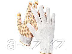 Перчатки STAYER МASTER трикотажные, 7 класс, х/б, с защитой от скольжения, L-XL, 11404-XL