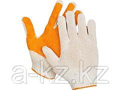 Перчатки STAYER МASTER трикотажные, 7 класс, х/б, обливная ладонь из ПВХ, L-XL, 11405-XL