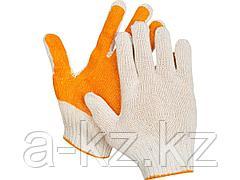 Перчатки ЗУБР ЭКСПЕРТ-ПРОТЕКТОР трикотажные, 10 класс, х/б, с защитой от скольжения, S-M, 11452-S
