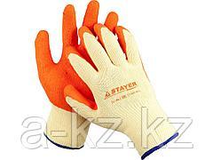 Перчатки STAYER EXPERT  рабочие с рельефным латексным покрытием, 10 класс, L-XL, 11407-XL