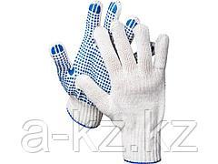 Перчатки трикотажные DEXX, 7 класс, х/б, с защитой от скольжения, 11400_z01