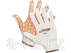 Перчатки STAYER EXPERT трикотажные с защитой от скольжения, 10 класс, х/б, S-M, 11401-S
