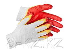 Перчатки STAYER МASTER трикотажные, двойная обливная ладонь из латекса, х/б, 13 класс, L-XL, 11409-XL