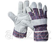 Перчатки STAYER MASTER рабочие комбинированные кожаные из спилка, XL, 1130-XL