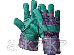 Перчатки STAYER MASTER рабочие, искусственная кожа, зеленые, XL, 1132-XL