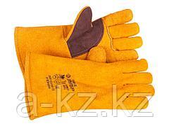 Краги сварщика ЗУБР 11335-XL, для сварки и тяжелых механических работ, утепленные, спилковые, 350 мм