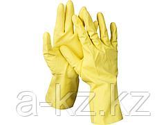 Перчатки хозяйственные латексные DEXX, х/б напыление, рифлёные, M, 11201-M