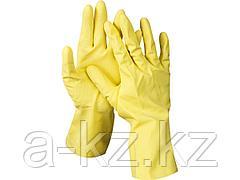 Перчатки хозяйственные латексные DEXX, х/б напыление, рифлёные, S, 11201-S