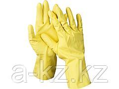 Перчатки хозяйственные латексные DEXX, х/б напыление, рифлёные, XL, 11201-XL