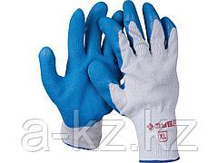 Перчатки ЗУБР ЭКСПЕРТ рабочие с резиновым рельефным покрытием, размер XL, 11260-XL