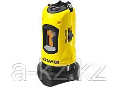 Лазерный уровень построитель плоскостей STAYER 34960, MASTER LASERMAX, самовыравнивающийся, точность +/-0,5 мм/м, дальность 10 м