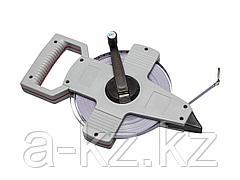 Мерная геодезийная лента ЗУБР 34181-100, МАСТЕР, стальное полотно с защитным покрытием, 100 м х 10 мм