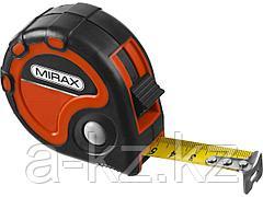 Рулетка измерительная MIRAX 34013-08-25, 3 стопора, двухкомпонентный пластиковый корпус, 8 м х 25 мм