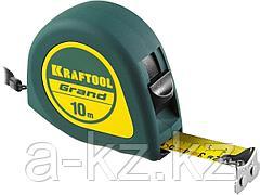 Рулетка измерительная KRAFTOOL 34022-10-25, GRAND, обрезиненный пластиковый корпус, 10 м х 25 мм