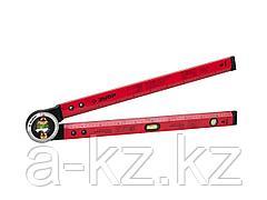 Уровень угломер ЗУБР 34740, МАСТЕР, складной, точность 1 мм/м, 500 мм