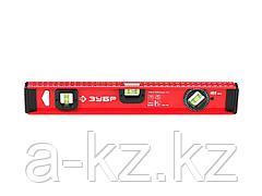 Уровень строительный ЗУБР 4-34583-040, МАСТЕР, двутавровый, усиленный, анодированный, 3 глазка (один поворотный), 40 см