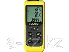 Лазерный дальномер STAYER 34957, лазерный, SDL-50, точность 2мм, дальность 50м, 2 точки отсчета