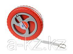 Мерная лента ЗУБР 34155-10_z01, МАСТЕР, фиберглассовая, пластмассовый корпус, 10 м