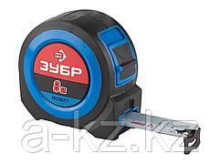 Рулетка измерительная ЗУБР 34059-08-27, ПРОФИ, сверхширокое полотно, особо длинный вылет, нейлоновое покрытие, упрочненный двухкомпонентный корпус, 8