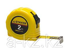Рулетка измерительная STAYER 34014-02-16, МASTER MaxTape, пластиковый корпус, 2 м х 16 мм