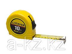 Рулетка измерительная STAYER 34014-10-25, МASTER MaxTape, пластиковый корпус, 10 м х 25 мм